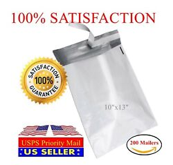 200 10quot;x13quot; Light Poly Mailer 2 Mil Shipping Mailing Packaging Envelope Bags $15.99