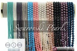 Swarovski Pearls 3mm 4mm 6mm 8mm10mm (45 Colors) Round Pearl Beads #5810