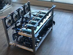 Mining Rig Crypto currency Starter Kit (PSU MB CPU SSD MEM Risers Frame)