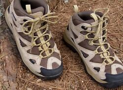 COLUMBIA Hiking Ankle BOOTS Support Mesh Trekking TRAIL OMNI TECH Tan Brown 8 M $34.00