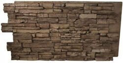 Stack Natural Brown Stone Wall Panel Faux Building Supplies Polyurethane
