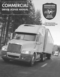 PAPER COPY: COMMERCIAL DRIVER MANUAL FOR CDL TENNESSEE $24.95