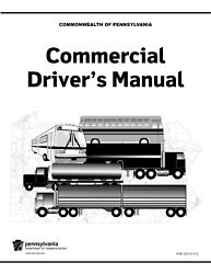 PAPER COPY: COMMERCIAL DRIVER MANUAL FOR CDL PENNSYLVANIA - ENGLISH $24.95
