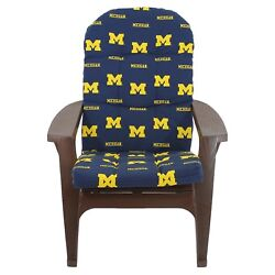 Adirondack Chair Cushion Michigan Wolverines College Covers 49 x 20 in.