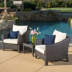 Outdoor Patio Set Dining Furniture 3 Piece Bistro Pool Porch Garden Table Chairs
