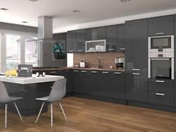 Delight glossy gray modern kitchen cabinets as lowest price $2250.00