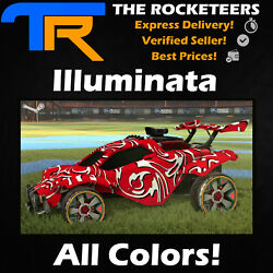 [PC STEAM] Rocket League Every Painted Illuminata Exotic Wheels Spring Fever