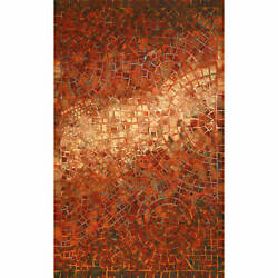 Transocean Liora Manne Visions V Arch Tile Red IndoorOutdoor Rug 8' x 10'