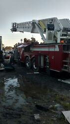 Chassisframe from a 1994 100ft ladder truck walking beam suspension dump truck