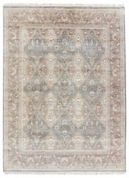 9' x 12' Area Rug Rectangle Gray Tan Handmade Hand-Knotted Traditional Vintage M
