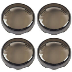 4x Smoked Turn Signal Light Lens Covers Fit for Harley Davidson Electra Glide $8.36