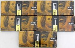 Empire Rolling Papers 5 WALLETS of $100 Dollar Bill Paper Plus Tips 50 PAPERS $9.99