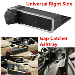 Car Seat Storage Box Gap Catcher Ashtray Coin Cup Phone Holder Pocket Organizer