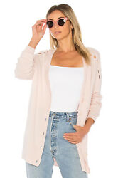 NWT Equipment Gia Wool & Cashmere Blend Cardigan Ballet Pink Size S $368