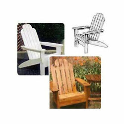 Woodworking Project Paper Plan to Build Folding Adirondack Chair