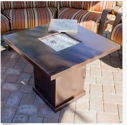 Outdoor Fire Pit Table Propane Gas Patio Heater Fireplace Furniture Backyard New