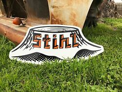 Antique Old Vintage Style Stihl Chainsaw Sign