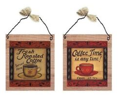 💗 Fresh Roast Coffee Pictures Kitchen Wall Hanging Decor Morning Brew Plaques $10.99
