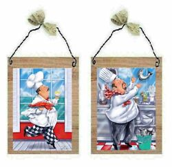 💗 Beautiful Chef Pictures Kitchen Wall Hangings Funny Cooks Decor Plaques $10.99