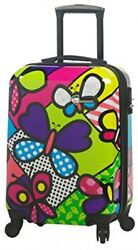 Mia Toro Butterflies Hardside Spinner Carry-on Contemporary