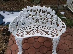 2~ANTIQUE CAST IRON VICTORIAN GRAPEVINE BENCHES . BEAUTIFUL