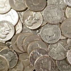Franklin Half Dollars  90% Silver Coin Lot Circulated Choose How Many! $14.95