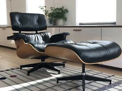 Eames Lounge Chair & Ottoman Replacement Cushion Set - Black Leather