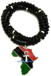 Ankh On Pan-African Africa Pendant Necklace 30