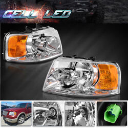 For 2003 2004 2005 2006 Ford Expedition Headlights 03 04 05 06 Replacement Lamp $77.91
