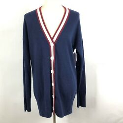 NWT EQUIPMENT Womens Gia Cashmere Cardigan Peacoat Multicolor blue size Small