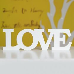 White Wooden Free Standing LOVE Letters Sign Decoration Wedding Gift Home Decor