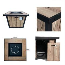 Fire Pit & Outdoor Fireplace Parts Dian 32 Patio Gas Wood Grained Propane Table