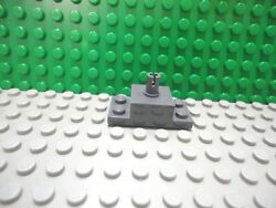 Lego 1 Dark Bluish Gray 2x4 brick plate with 1 pin helicopter mount NEW $1.09