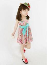 Toddler Kids Girls Beach Floral Dress Princess Party Beach Dresses $8.97