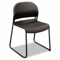 GuestStacker Series Chair Charcoal with Black Finish Legs 4Carton