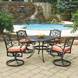 Home Styles Biscayne 48 in. Swivel Patio Dining Set - Seats 4