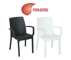 CHAIR ARMCHAIR RESIN 22 38X23 316X33 78in OUTER GARDEN BAR POOL Indian MOD.
