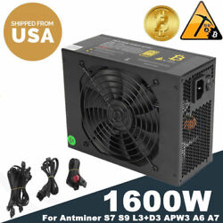 1600W 110V- 240V Power Supply For 6 GPU Eth Rig Ethereum Coin Mining Miner
