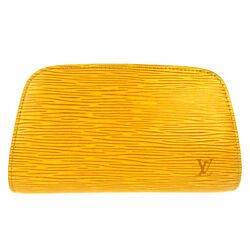 AUTH LOUIS VUITTON DEFINE POUCH TASSILI YELLOW COSMETIC POUCH EPI M48449 B31281