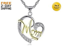 NEW GOLD SILVER DIAMOND PEARL NECKLACE MOTHERS DAY GIFT FOR HER PRESENT MOM WIFE