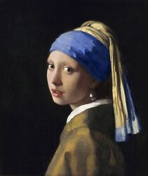 Girl with a Pearl Earring by Johannes Vermeer Canvas Print in various sizes $8.99