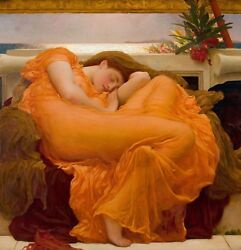Flaming June by Frederic Leighton Giclee Canvas Print in various sizes $21.99