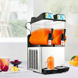 2 Tanks 24L Commercial Frozen Drink Slush Slushy Machine Margarita 2 Cylinder