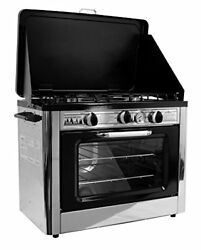 Outdoor Kitchen Oven Portable Gas Stove Camp Camping Propane Two Burner Pizza  *