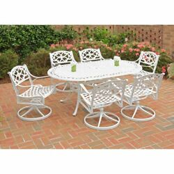 Home Styles Biscayne 72 in. Swivel Patio Dining Set - Seats 6