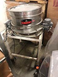 """Used Portable Kason Vibratory sifter 20"""" inner diameter with rolling stand. $5000.00"""