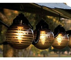 Outdoor String Lights Patio Deck RV Large Globe Set Decor Awning Camper Party
