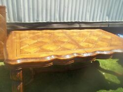 Michael Amini Tuscano 148quot; Long Formal Dining Table Biscotti Finish Table Only $2000.00