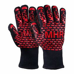 Extreme Heat Resistant Gloves for BBQ Grilling And Fireplace Long Cuff Forearm 1
