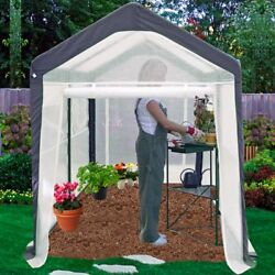6x8 Large Greenhouse Heavy Duty Vented Walk In Plant Cover Gardening Metal Frame